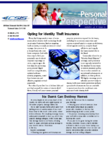 12/1/2014 – Opting for Identity Theft Insurance