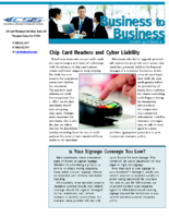 3/15/2016 – Chip Card Readers and Cyber Liability