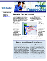 5/22/2014 – Evacuation Plans Are Important