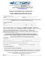 CSIS Certificate Request Form