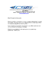 CSIS Three Year Loss Letter Request